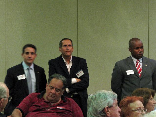 CD 18 Candidates Brian Lara, Alan Schlesinger, Calvin Turnquest