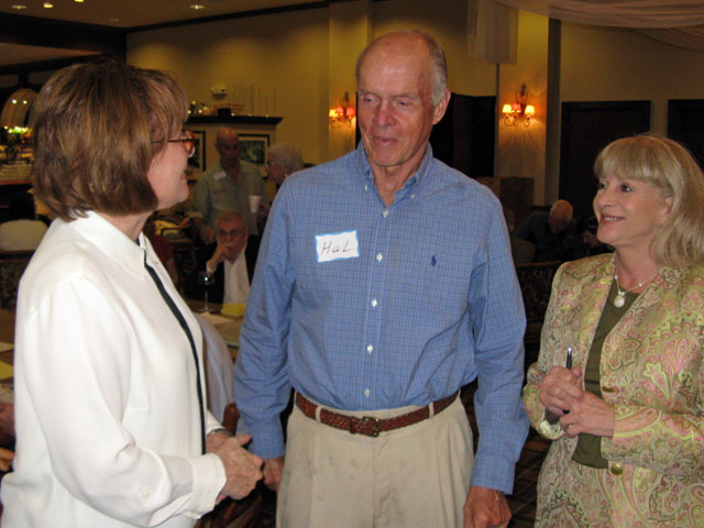 Phyliss Frey, Commissioner Hal Valeche, Janet Campbell